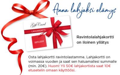 Anna lahjaksi elämys!